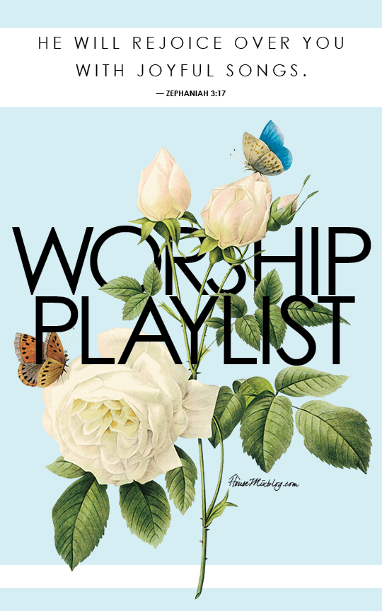 My favorite worship music playlist on Spotify