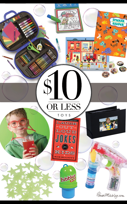Inexpensive toys and gift ideas for boys and girls under $10.