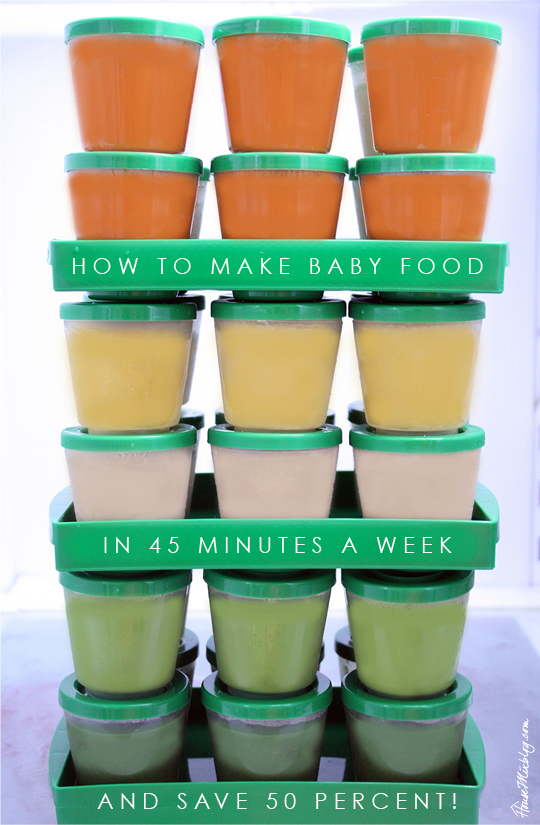 Feed your baby the most nutritious food possible in the first year? Find an introduction order and lots of recipes in this article. How to make homemade baby food in 45 minutes a week and save 50 percent