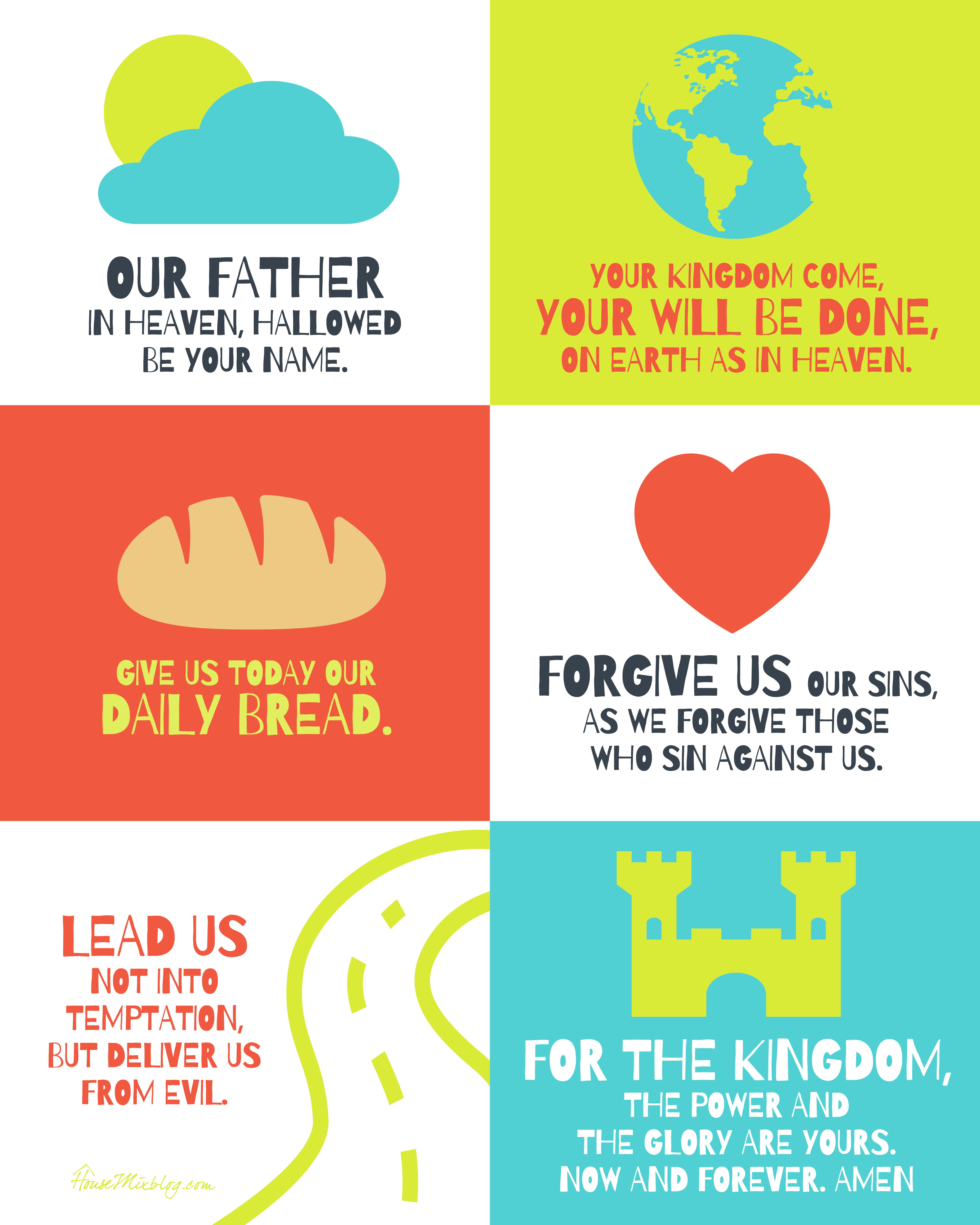 The Lord's prayer poster for kids | House Mix