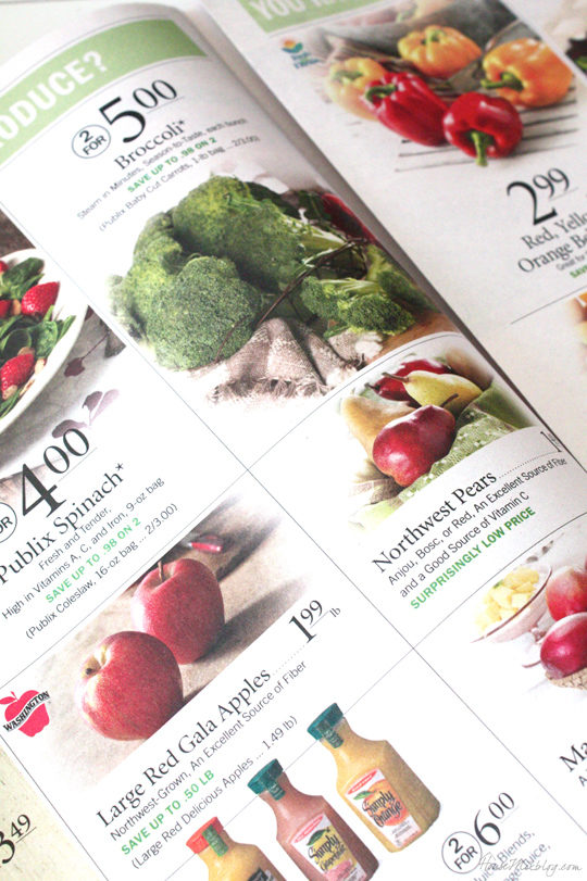 Look at your grocery circular before you make your menu or list