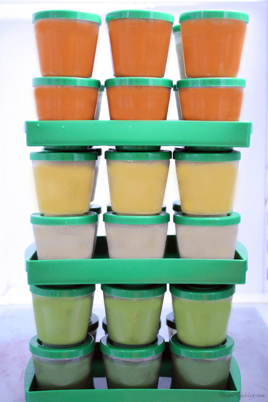 Make homemade baby food to save 50 percent on your grocery bill