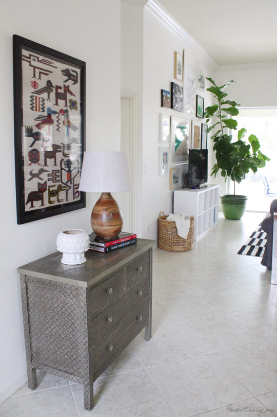 Creating the feeling of an entryway