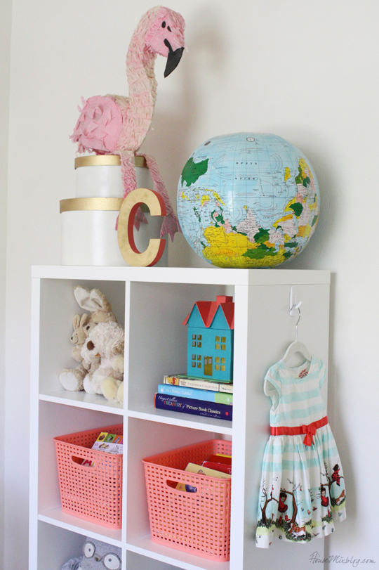 Kallax book shelf styling for children