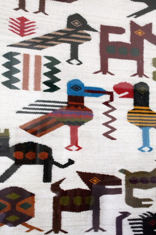 Tapestry from Ecuador as art