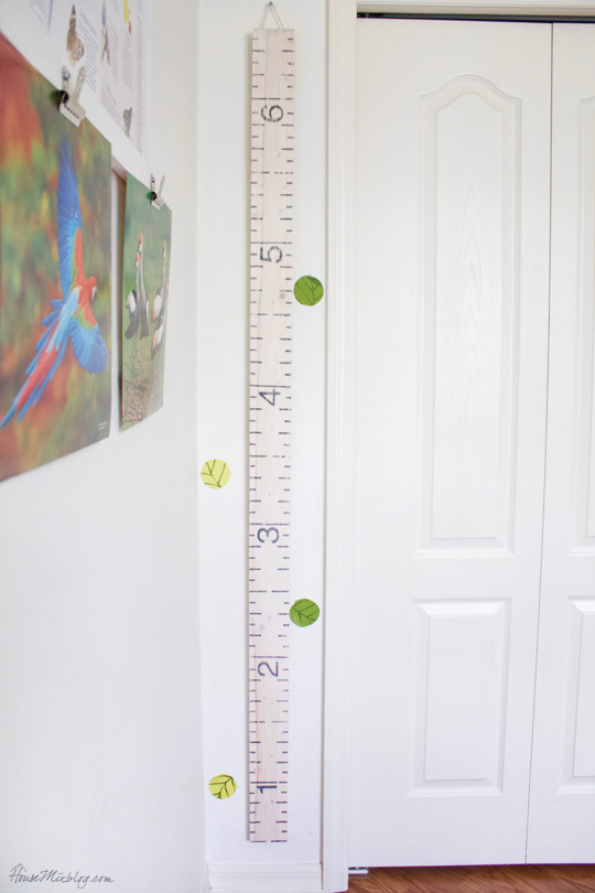 DIY oversized ruler growth height chart