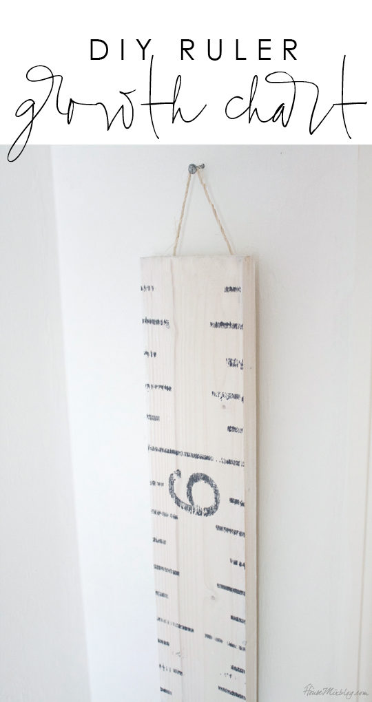 Easy DIY ruler growth chart from your own printer