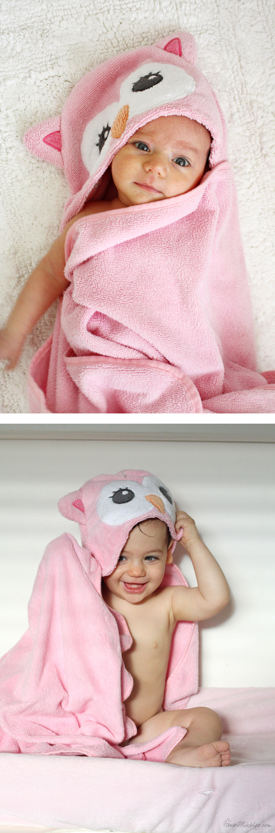 Take newborn picture and first year picture with the same prop to see how they have grown