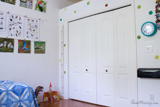 White walls in boys room