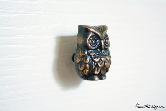 World Market gold owl knob