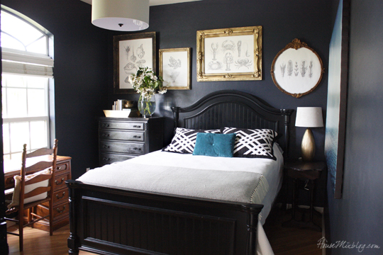 Navy Blue Bedroom And Home Office House Mix