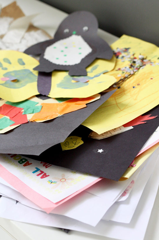 What to do with all those kid art projects