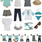 Summer trip wardrobe capsule: Aqua