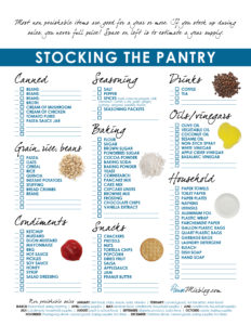 stocking the pantry list