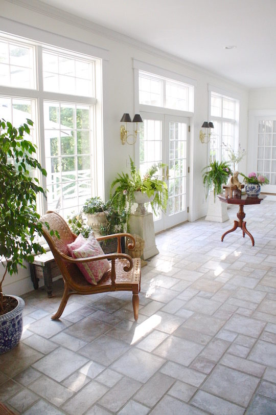 Country House Sun Room With Stone Floor