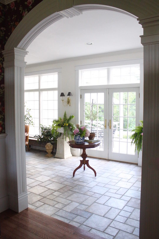 Sun room provides lots of light in the winter
