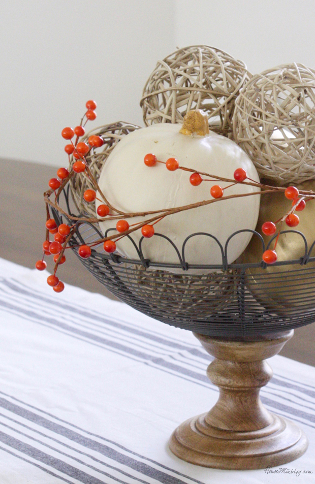 Fall Halloween or Thanksgiving centerpiece