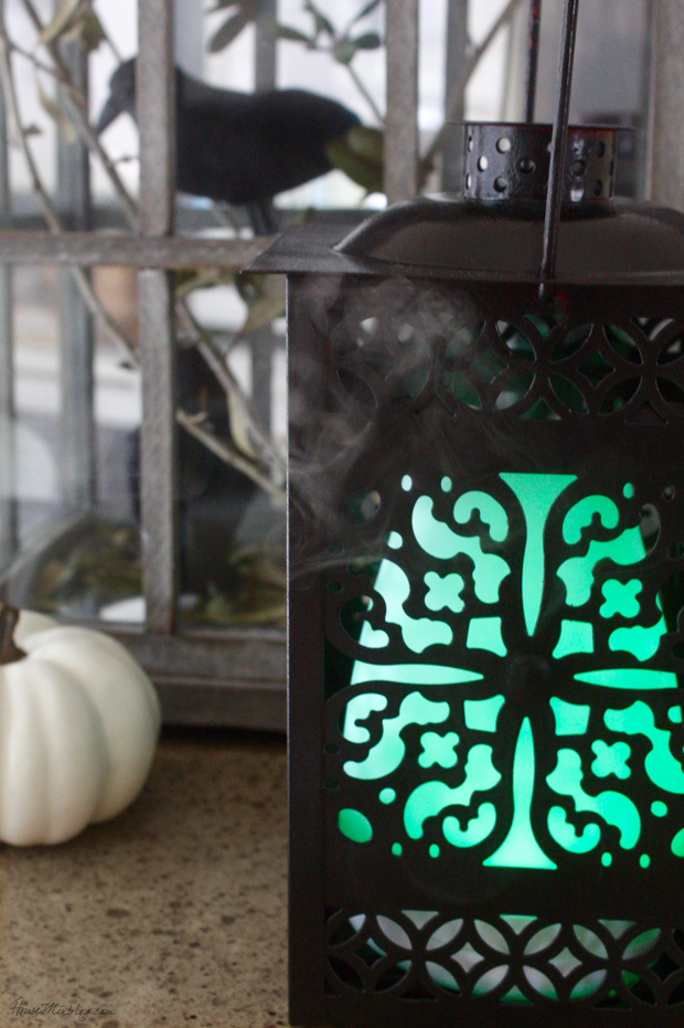 Oil diffuser makes for a glowing smoking lantern -- that smells good!