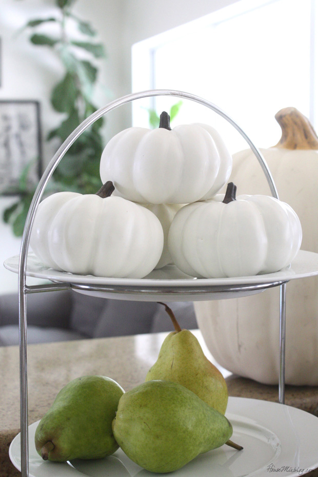 Small white pumpkins to decorate for Halloween and Thanksgiving