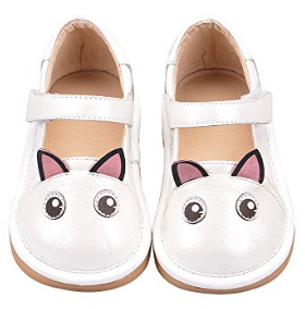 Little girl cat squeaker shoes