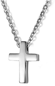 Simple and small silver cross necklace