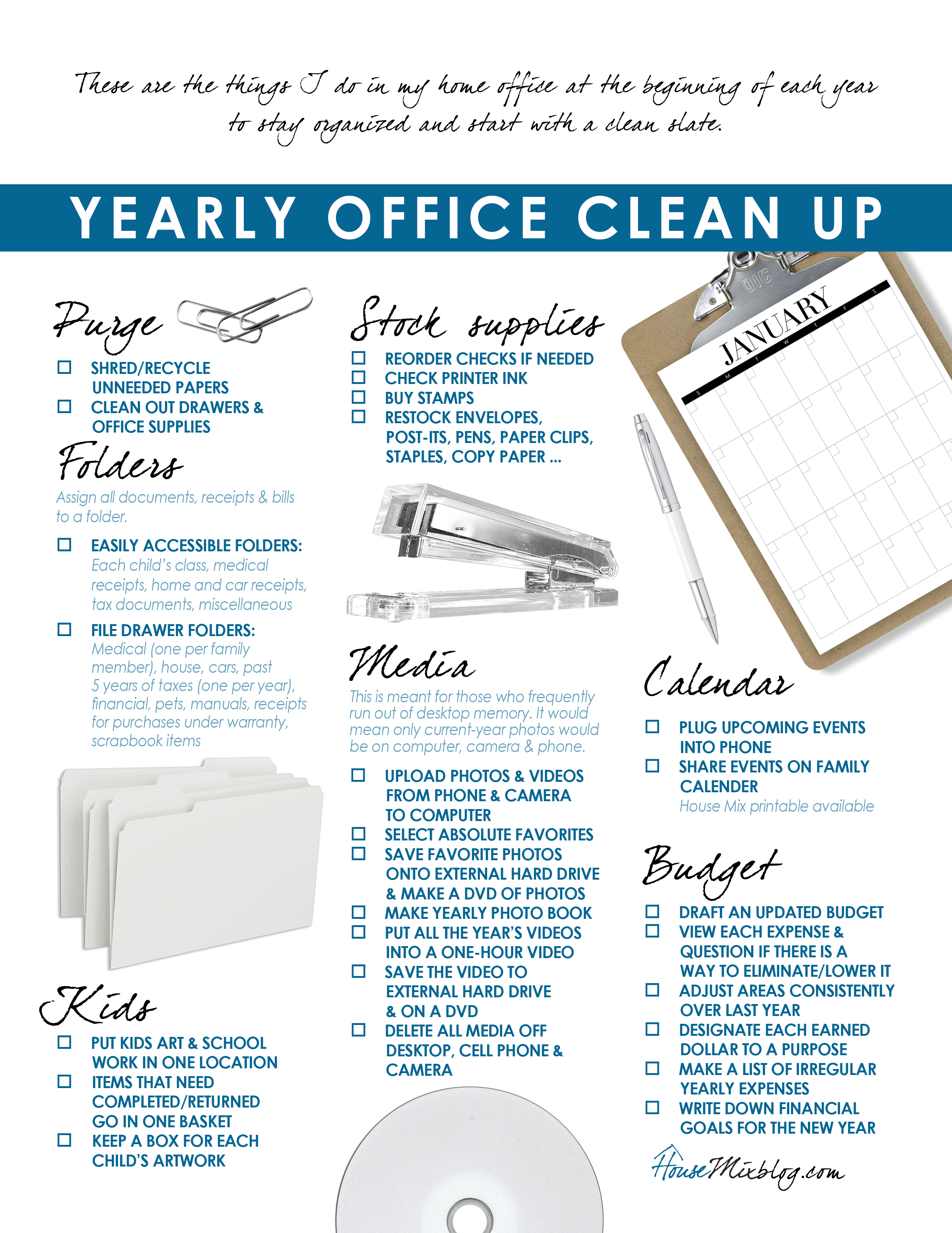 ideas to organize your home office  u0026 budget