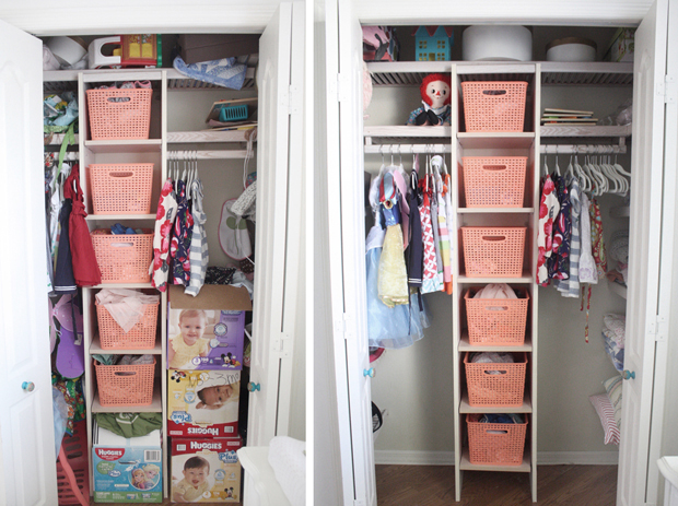 How to clean out kids closets