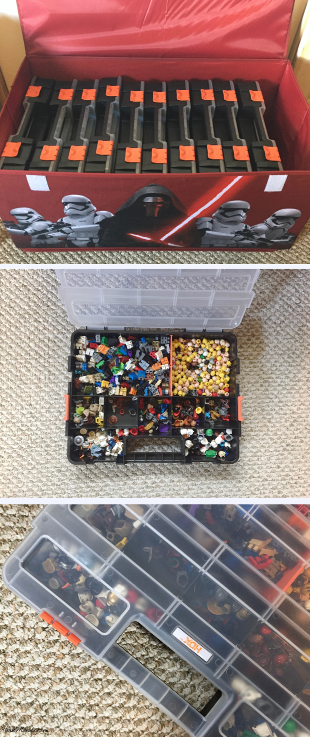 Lego organization for little pieces in tool boxes