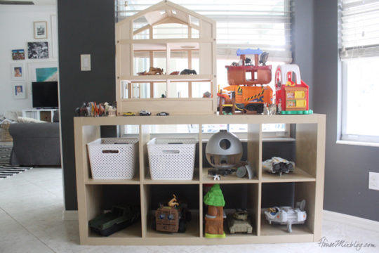 Playroom shelf and toy organization