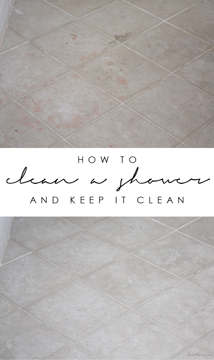 Five steps to cleaning a tile shower and keeping it clean longer