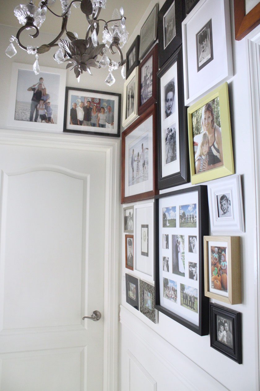 Gallery wall in hallway