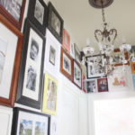 Hallway gallery with mismatched frames