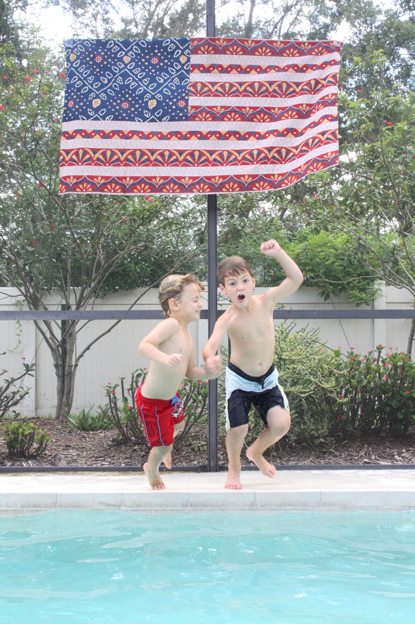Fourth of July pool party