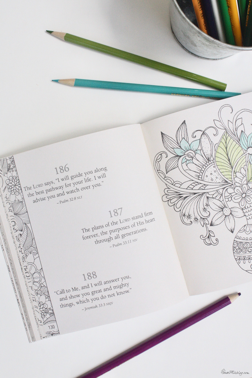 Adult coloring books with scripture can help with anxiety and mediation