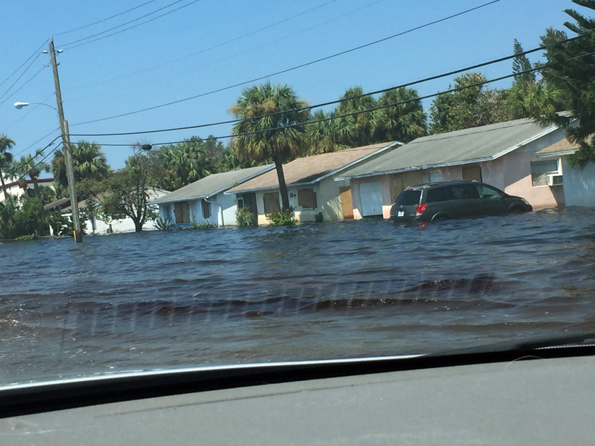 Flooding after hurricane Irma