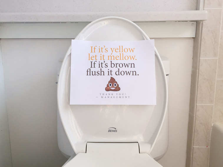 If it's yellow let it mellow. If it's brown flush it down. printable sign