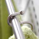 Make a towel hook with a shower hook