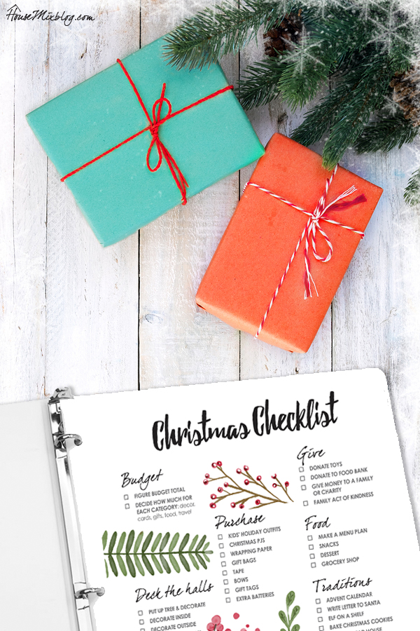 Christmas organizer - Printable Christmas to do checklist