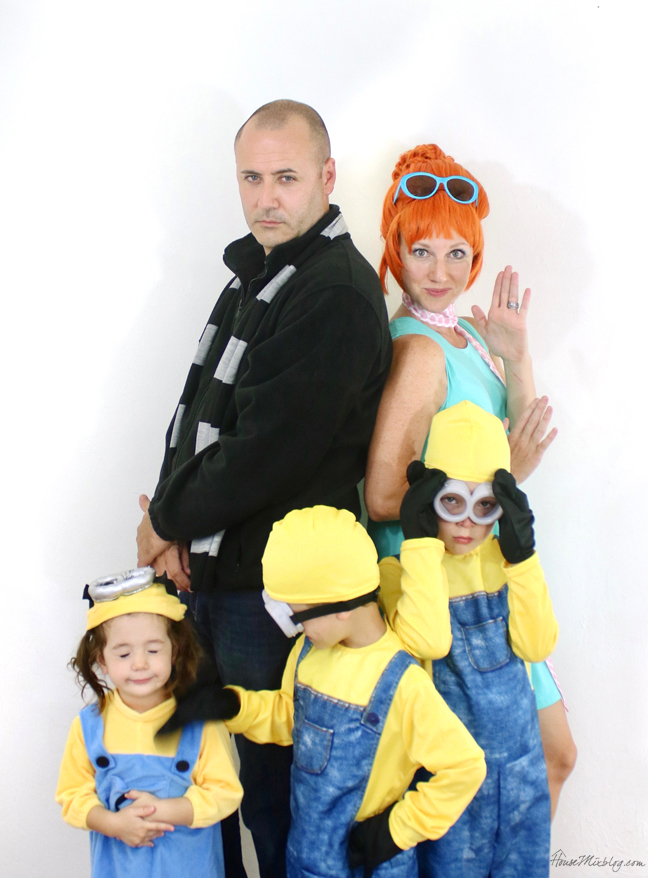 Family costume ideas - Despicable Me - Gru Lucy and minions