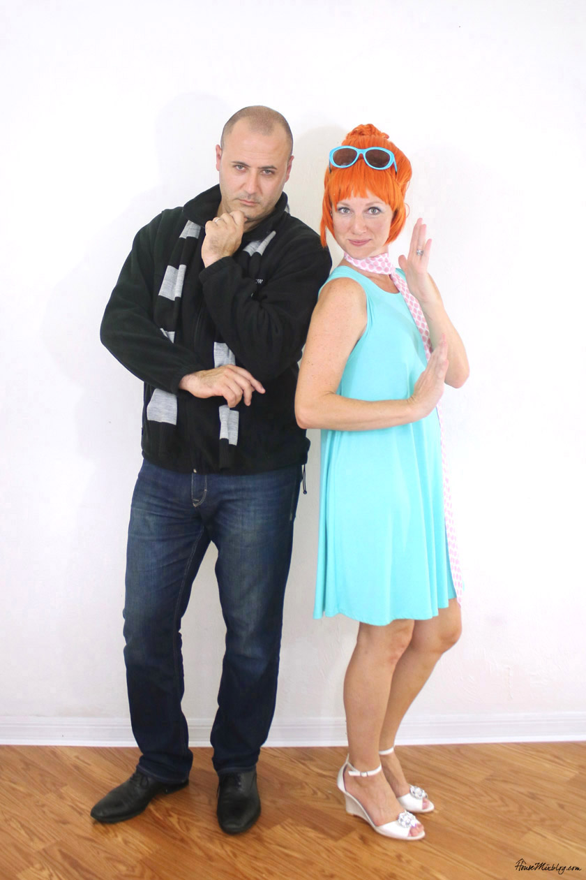 Gru and Lucy Despicable Me couple Halloween costumes