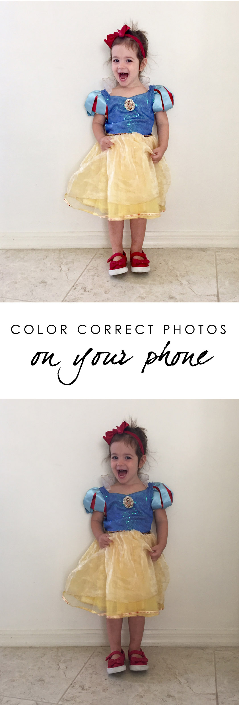 How to color correct and brighten photo on your phone without an app or filter copy