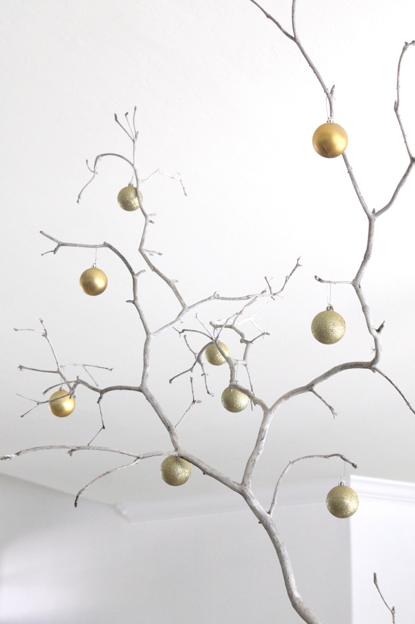 Pull out gold and silver Christmas ornaments for New Years decor