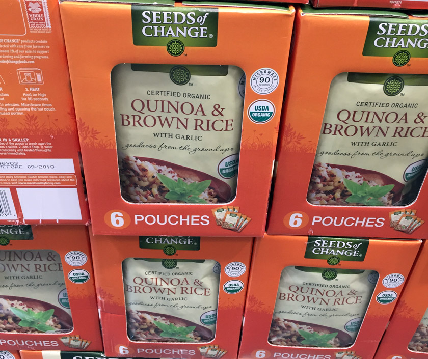 Rice pouches at costco