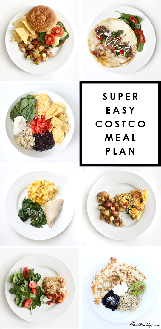 Super easy Costco meal plan for 2 weeks