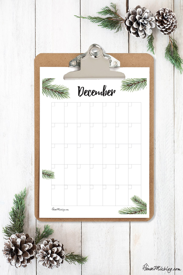 Ultimate Christmas Planner - December calendar printable