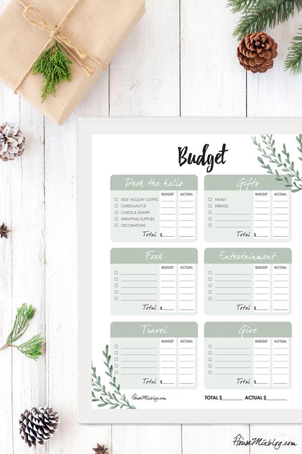 Ultimate Christmas planner - Christmas budget organizer printables