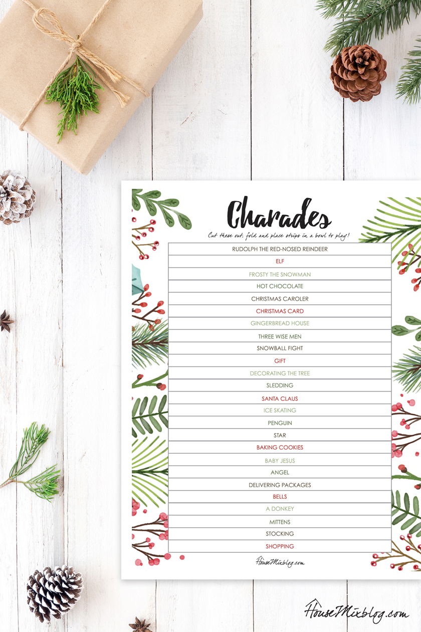 Ultimate Christmas planner activities - family game of Christmas Charades