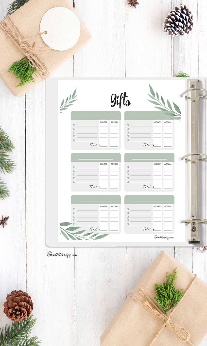 Ultimate Christmas planner gift idea printables