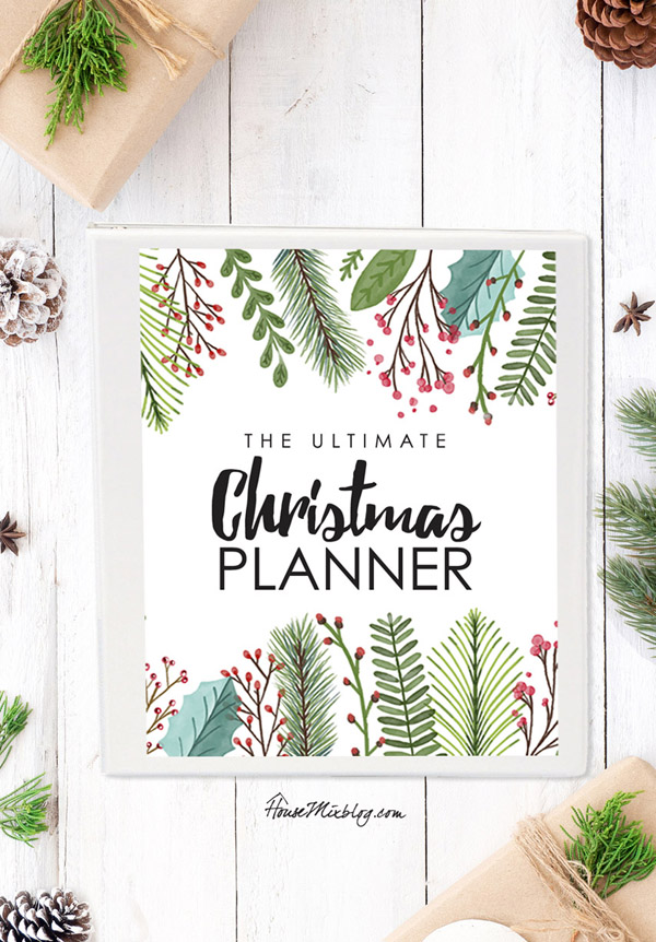 Ultimate Christmas planner printables - 18 pages with calendar, budget, menu, party planner