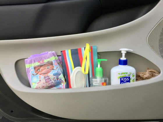 Minivan organization and car rules for kids